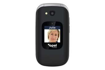 Opel Mobile Flip Phone Plus (3G, Keypad) - Black