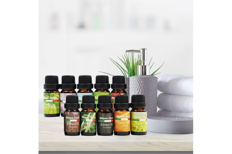 New 10 Pack Aroma Diffuser Oils Aromatherapy Fragrance 10ml Gift Pack