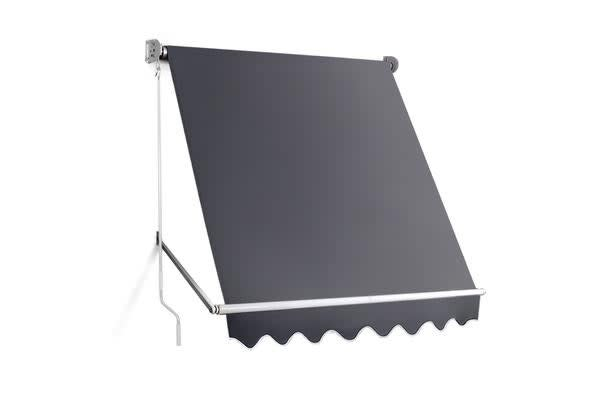 Image of 1.8m x 2.1m Retractable Fixed Pivot Arm Awning (Grey)