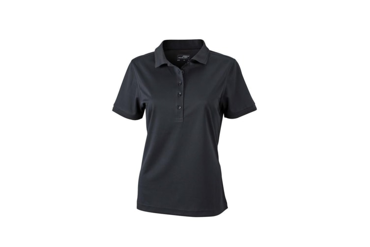 James and Nicholson Womens/Ladies Active Polo (Black) (M)