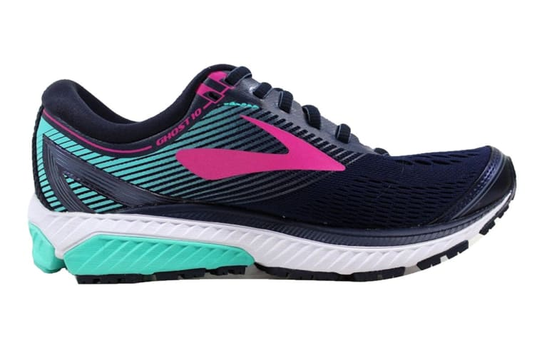 Brooks Women's Ghost 10  (Navy/Pink/Teal Green, Size 7)