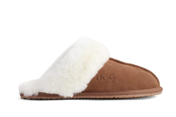 Outback Ugg Slippers - Premium Sheepskin (Chestnut, 13M / 14W US)
