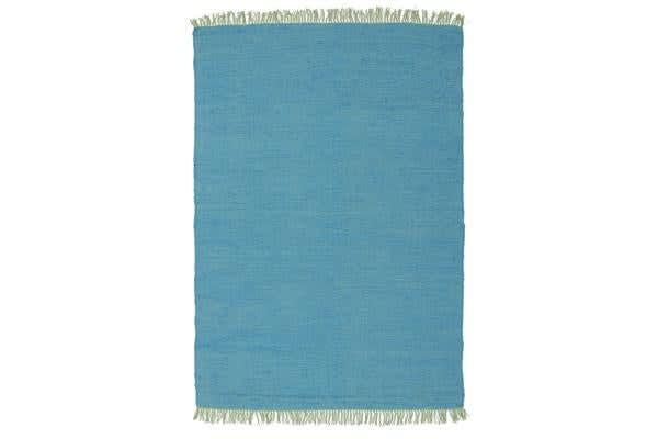Mina Stunning Cotton Rug Blue 270x180cm