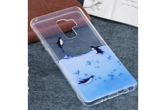 For Samsung Galaxy S9 PLUS Back Case Lovely Penguins Durable Protective Cover