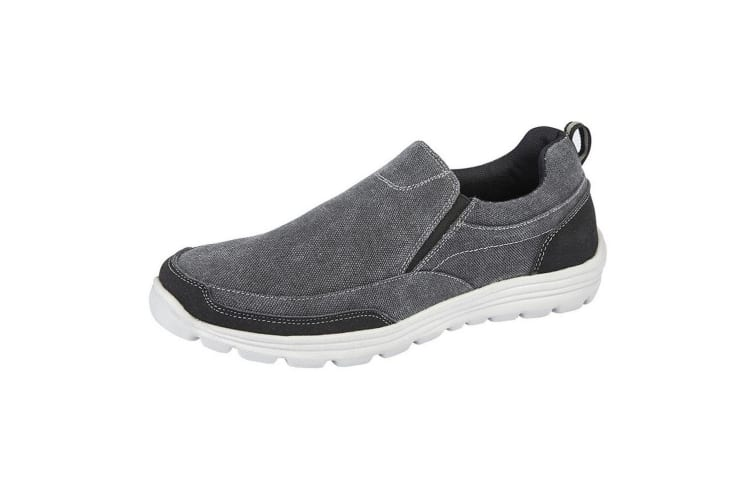Dek Mens Memory Foam Slip On Shoes (Black) (7 UK)