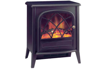Dimplex Ritz-C Electric Fireplace Heater Heat/Fire Flame Smoke Coal Wood Effect
