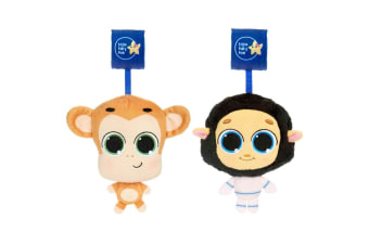 2pc Little Tikes Musical Minis Baby 6m+ from Toy Mac the Monkey/BaaBaa the Sheep