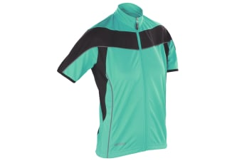 Spiro Womens Bikewear / Cycling 1/4 Zip Cool-Dry Performance Fleece Top / Light Jacket (Aqua / Black) (S)