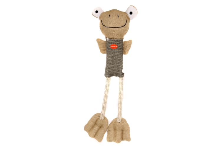 Danish Design Fenton The Long Legs Frog Toy (Brown/Grey) (One Size)