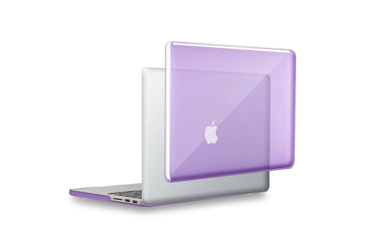 "Hard Case Cover for Apple Macbook Pro 13"" Inch A1708-Matte ClearGlossy Purple"