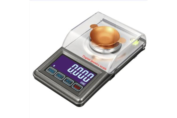50G Digital Scale Stainless Steel Backlit Lcd 0.001G Graduation Precise Compact
