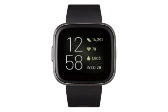 Fitbit Versa 2 Smart Watch - Black/Carbon Aluminium