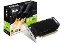 MSI NVIDIA GT 1030 2GB OC Low Profile Fanless Video Card - GDDR5 DP/HDMI 1265/1518MHz