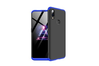 Frosted Shield Matte Ultra Thin Slim Shockproof Shell Cover For Vivo Blue+Black X23