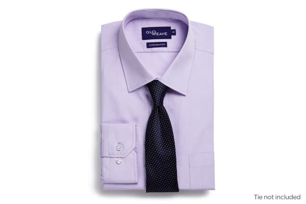 Gloweave Men's Contemporary Fit Business Shirt - Mauve (Size 40)