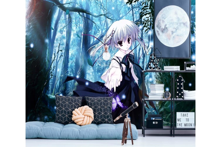 3D Forest Loli 61 Anime Wall Murals Woven paper (need glue), XL 208cm x 146cm (WxH)(82''x58'')