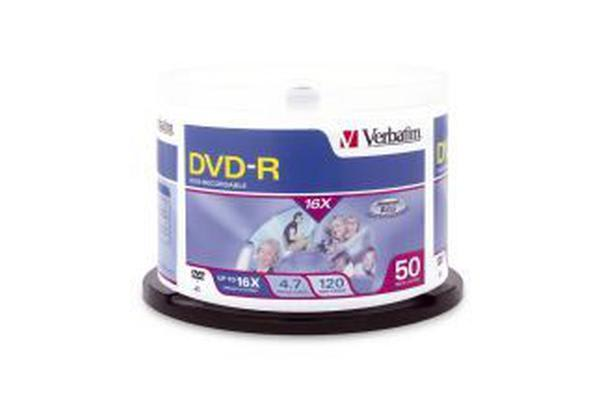 Verbatim DVD-R 4.7GB 50pk Spindle 16x