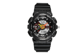 Children'S Waterproof Sports Watch Fashion Electronic Watch Black