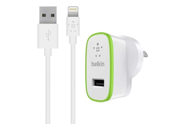 Belkin Boost Up 12W Wall Charger with Lightning ChargeSync Cable (F8J125AU04-WHT)