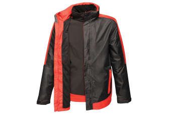 Regatta Mens Contrast 3-In-1 Jacket (Black/Classic Red) (L)