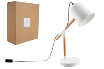 Luminite Dena White Desk Lamp 33x13x45cm
