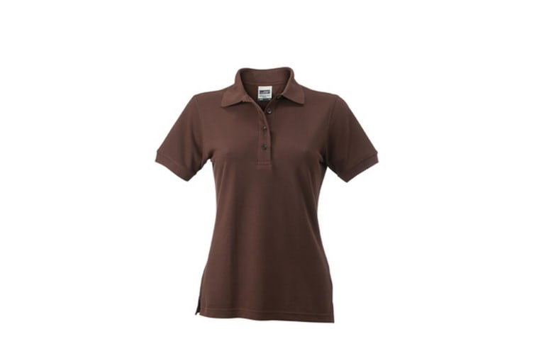 James and Nicholson Womens/Ladies Workwear Polo (Brown) (M)