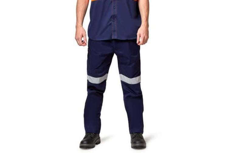 King Gee Reflective Drill Pants (Navy, Size 92R)