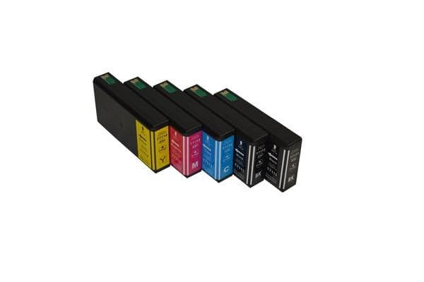 711XXL Series Compatible Inkjet Cartridge Set PLUS Extra Black (5 cartridges)