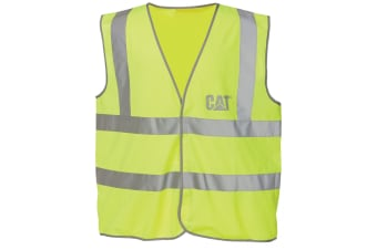 Caterpillar C1322024 HI VIS VEST / Mens Workwear (Yellow)