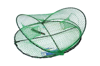 Wilson Folding Opera House Trap-Green Yabbie Net-3 Inch Entry Rings