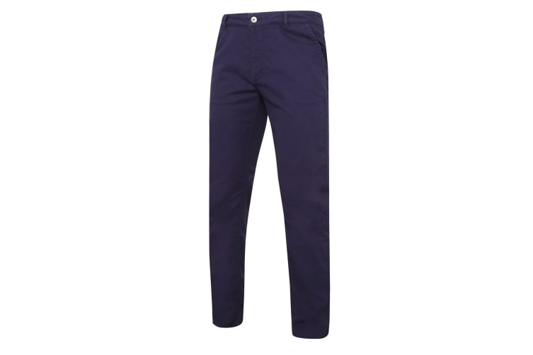 Asquith & Fox Mens Slim Fit Cotton Chino Trousers (Navy) (ST)