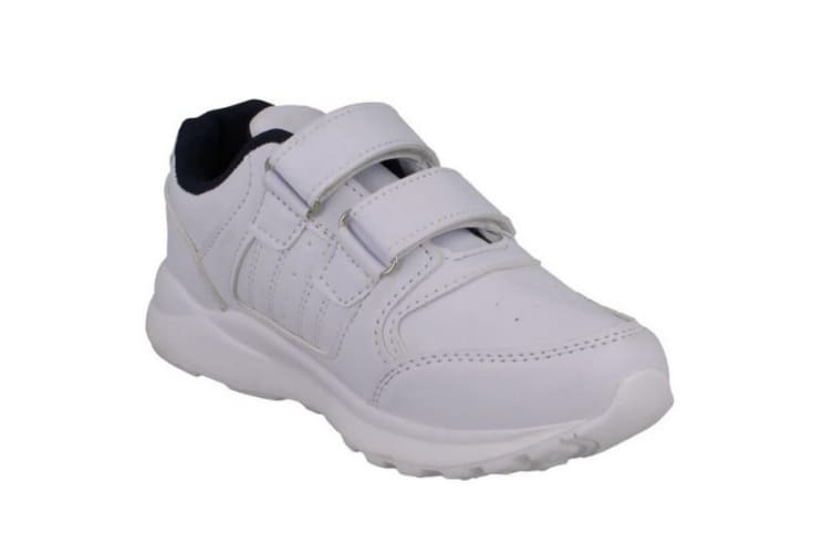 JCDees Boys Trainers (White Synthetic) (10 UK Child)