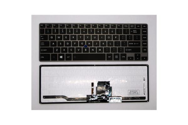 OEM Toshiba Keyboard  with frame for Z40b  (silver)/6 Months Warranty