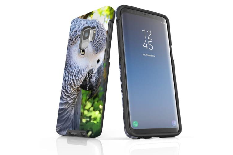 For Samsung Galaxy S9 Case Armour Cover  African Grey