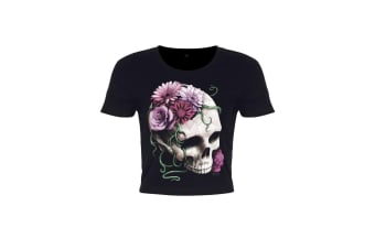 Requiem Collective Ladies/Womens Cranial Bloom Crop Top (Black)
