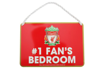 Liverpool FC Official Number 1 Fan Football Crest Bedroom Sign (Red)