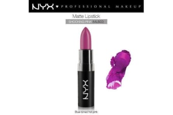 Nyx Matte Lipstick Shocking Pink Rose Intense Lip Stick Dark Tone Hot #Mls02