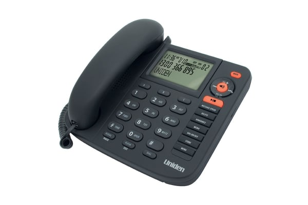 Uniden Corded Phone with Integrated Digital Answering Machine