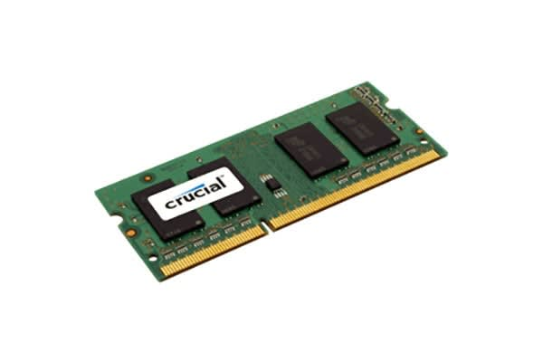 Crucial 4GB DDR3L 1600 MT/s (PC3L-12800) CL11 SODIMM 204pin 1.35V/1.5V Single Ranked