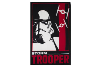 Star Wars Childrens/Kids Official Storm Trooper Fleece Blanket (Black/White/Red) (One Size)