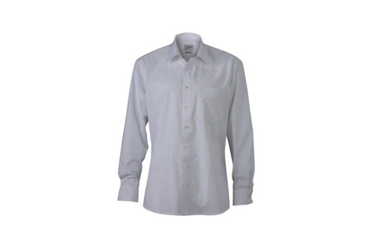 James and Nicholson Mens New Kent Shirt (White) (M)