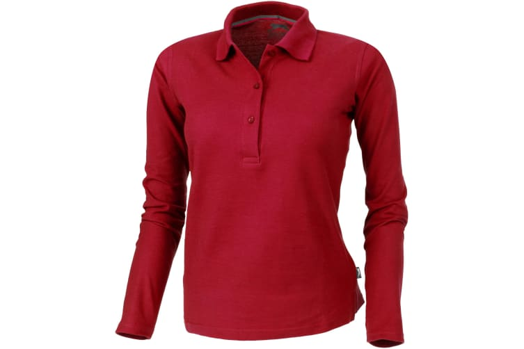 Slazenger Womens/Ladies Point Long Sleeve Polo Shirt (Red) (S)