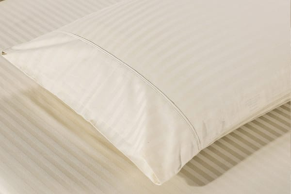 Royal Comfort Kensington 1200TC 100% Egyptian Cotton Stripe Bed Sheet Set (Queen, Beige)