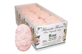 Clover Fields Favourite Flower Rose Soap 140g x 12 Display