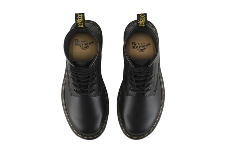 Dr. Martens 1460 Smooth Leather Hi Top Shoe (Black, Size UK 11)