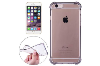 For iPhone 6S 6 Case Strong Transparent Durable Grippy Shielding Cover Black