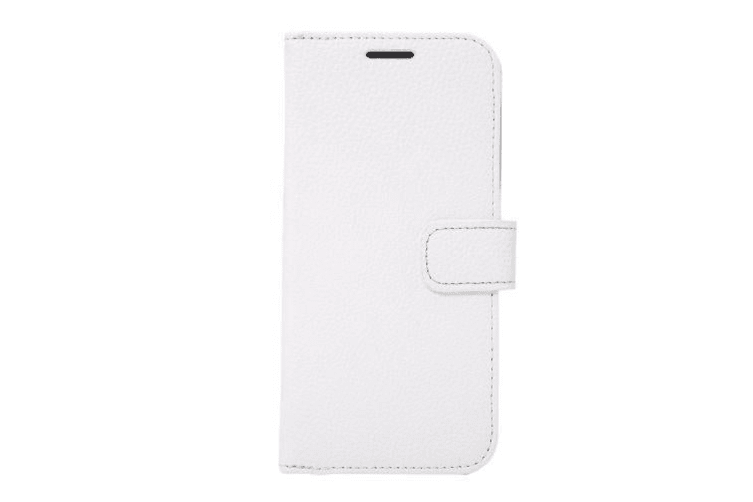 For Samsung Galaxy S7 Wallet Case  Lychee Leather Shielding Cover White
