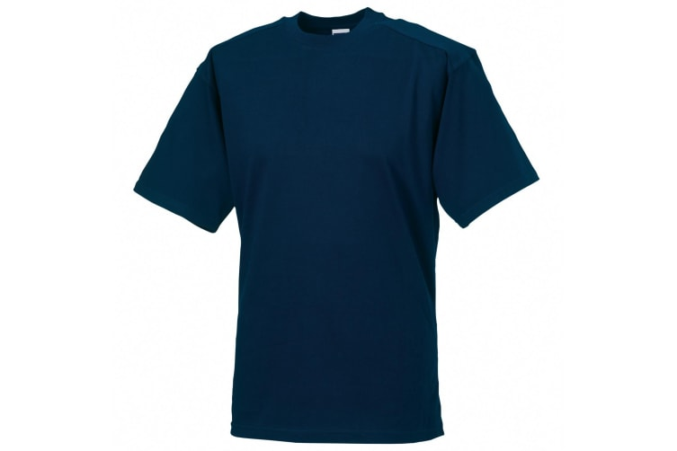 Russell Europe Mens Workwear Short Sleeve Cotton T-Shirt (French Navy) (S)