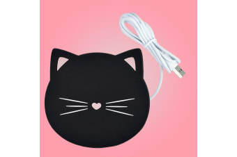 Cute Novelty Black Kitty Cat USB Mug Warmer