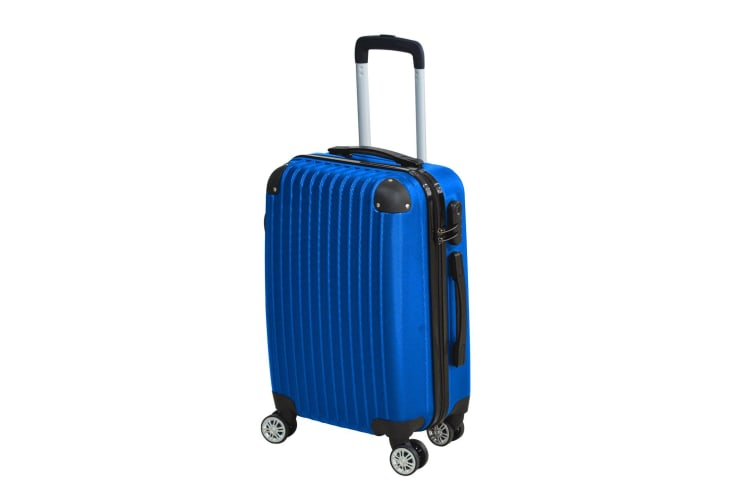"""24"""" Cabin Luggage Suitcase Code Lock Hard Shell Travel Case Carry On Bag Trolley  -  Blue"""